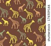 giraffe silhouettes random... | Shutterstock .eps vector #176509166