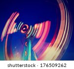 a fair ride shot with a long... | Shutterstock . vector #176509262