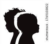 vector silhouette of couple.... | Shutterstock .eps vector #1765103822