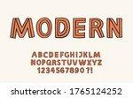 hand drawn font hipster design... | Shutterstock .eps vector #1765124252