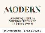 hand drawn font hipster design... | Shutterstock .eps vector #1765124258