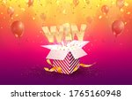 win vector illustration.... | Shutterstock .eps vector #1765160948