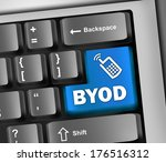 keyboard illustration with byod ... | Shutterstock . vector #176516312