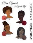 seasonal color analysis. set of ... | Shutterstock .eps vector #1765167818
