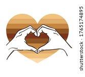 stop racism  hand heart shape   ...   Shutterstock .eps vector #1765174895