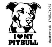 i love my pitbull tshirt design ...