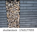 Cut Wood Logs Ready For Heating ...