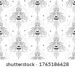 abstract honey bee seamless...   Shutterstock .eps vector #1765186628