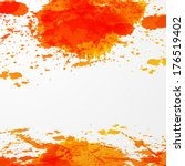 color paint splashes background.... | Shutterstock . vector #176519402
