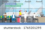 travel bubble concept. after... | Shutterstock .eps vector #1765201295