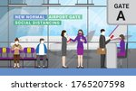 after quarantine re opening... | Shutterstock .eps vector #1765207598