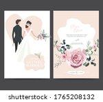 wedding invitation design.... | Shutterstock .eps vector #1765208132