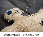 A Voodoo Doll Made Of Burlap ...