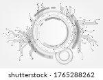 vector circuit frame on white...   Shutterstock .eps vector #1765288262