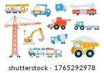 set working building machine... | Shutterstock .eps vector #1765292978