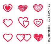 collection of heart... | Shutterstock .eps vector #1765297412