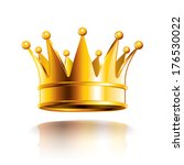 glossy golden crown isolated on ... | Shutterstock .eps vector #176530022