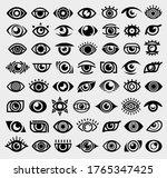 eye set. collection icon eye.... | Shutterstock .eps vector #1765347425