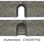 3dillustration Of Stone Wall...