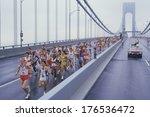 view of runners crossing...   Shutterstock . vector #176536472
