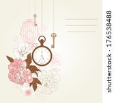 beautiful card with birdcages ... | Shutterstock .eps vector #176538488