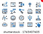 seo line icons set. seo related ... | Shutterstock .eps vector #1765407605