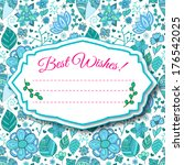colorful floral background with ... | Shutterstock .eps vector #176542025