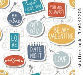 colorful hand drawn different... | Shutterstock .eps vector #176542205