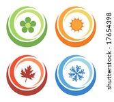four seasons elements | Shutterstock .eps vector #17654398