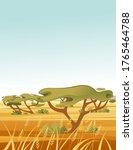 landscape savanna background...   Shutterstock .eps vector #1765464788