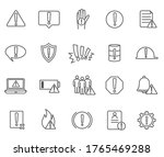 large set of 20 black and white ...   Shutterstock .eps vector #1765469288