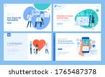 set of web page design... | Shutterstock .eps vector #1765487378
