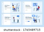 set of web page design... | Shutterstock .eps vector #1765489715