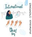 international deaf day 23... | Shutterstock .eps vector #1765493465