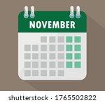 november calendar. vector ...