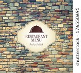restaurant menu design | Shutterstock .eps vector #176550695