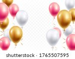 realistic festive balloons... | Shutterstock .eps vector #1765507595