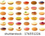 vector illustration of dinner... | Shutterstock .eps vector #176551226