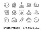 business people line icons set. ...   Shutterstock .eps vector #1765521662