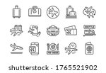 airport line icons set....   Shutterstock .eps vector #1765521902