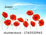 summer nature background with a ... | Shutterstock .eps vector #1765533965