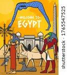 Egypt Travel Poster  Egyptian...