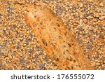 close-up of an multi grain bread - stock photo