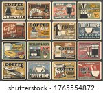 coffee retro posters  coffee... | Shutterstock .eps vector #1765554872