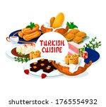 turkish cuisine food  dessert... | Shutterstock .eps vector #1765554932