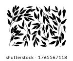 brush branches with long leaves ... | Shutterstock .eps vector #1765567118