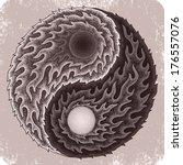 hand drawn yin yang tattoo. | Shutterstock .eps vector #176557076