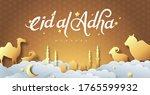 eid al adha mubarak the... | Shutterstock .eps vector #1765599932