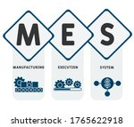 mes   manufacturing execution... | Shutterstock .eps vector #1765622918