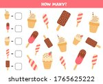 count how many various ice... | Shutterstock .eps vector #1765625222
